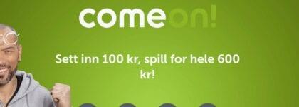 Sett inn 100 kroner, spill for 600 kroner